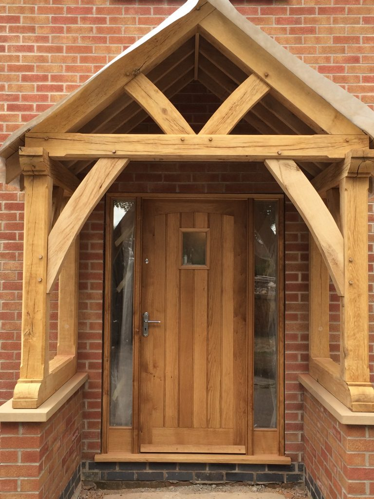 Adding An Oak Porch To Any External Door Enhances The